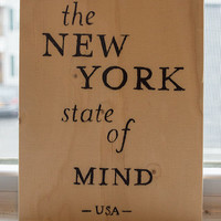 New York - Typography - Typography Painting - Typography Print - State Typography - Reclaimed Wood - Hand Lettering - Typography Art