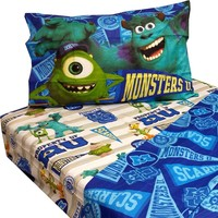 Disney Monsters Inc Twin Bed Sheet Sets Monster University Pennant Bedding Accessories