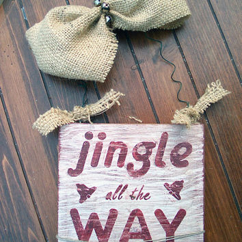 "Holidays Christmas Decoration Prim Wood Sign Home Decor Christmas Wood Sign Distressed Sign Country Christmas Sign Rustic 5 3/4"" x 5 3/4"""