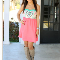 The Thought of You Dress - Coral