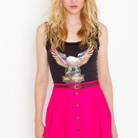 Sedona Belted Skirt - Hot Pink