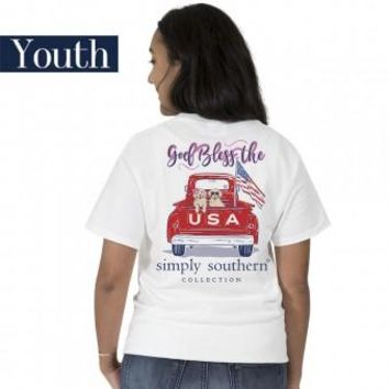 "Youth Simply Southern ""Preppy USA"" Short Sleeve Tee"