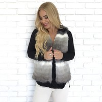 Shades of Grey Fur Vest