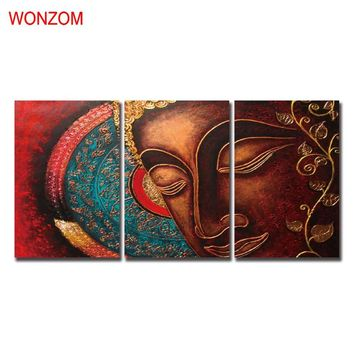 WONZOM Meditation Buddha Pictures Of Abstract Paintings Zen Decorative Pictures Wall Canvas Pictures For Home Decor Poster 2017
