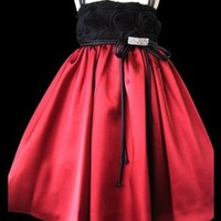 Buy Online Tulle Tissue Rose Dress with Satin Skirt All Sizes