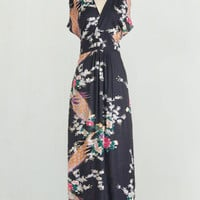 Long Short Sleeves Maxi Feeling Serene Dress in Evening