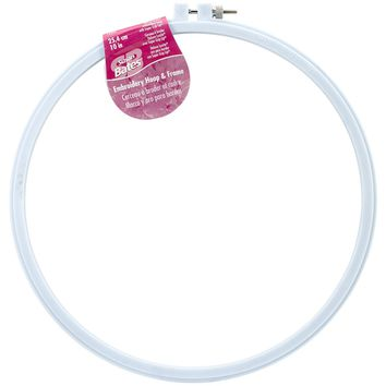 "Size 10"" Bates Plastic Embroidery Hoop - Light Blue"