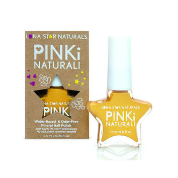 Lunastar Pinki Naturali Nail Polish - Augusta (sunflower Yellow) - .25 Fl Oz