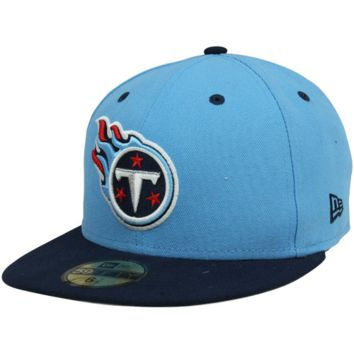 New Era Tennessee Titans Two-Tone 59FIFTY Fitted Hat - Light Blue/Navy Blue