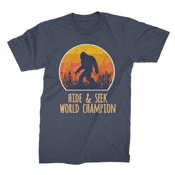 Hide and Seek Champion Shirt Bigfoot Funny Sasquatch Tshirt