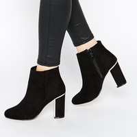 Head Over Heels By Dune Ophelia Black & Gold Heeled Boots