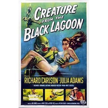 Creature From The Black Lagoon movie poster Sign 8in x 12in