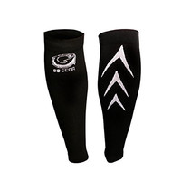 Calf Compression Sleeve By Go Gear Sports - Fits Women's and Men - Running, Cycling, Basketball, CrossFit, Baseball, Soccer, Volleyball, Traveling - Shin Splint Support Brace - True Graduated Compression (White, Large)