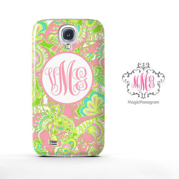 Chin Chin Elephant Lilly Pulitzer Monogram Samsung Galaxy S6 Case, Galaxy Note 4 Case
