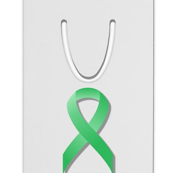 Celiac Disease Awareness Ribbon - Light Green Aluminum Paper Clip Bookmark