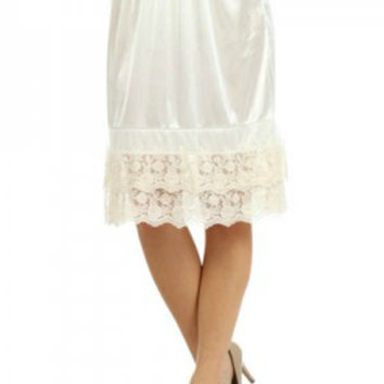 Extra Long Lace Skirt Extender Slip