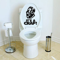 Star Wars It's A Crap Toilet Decal Admiral Ackbar It's a Trap Sticker