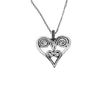Barnes Metalwork Heart Sterling Silver Necklace