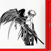 Wall Stickers Vinyl Decal Angel of Death Warrior Wings Anime Manga Unique Gift (ig1781)