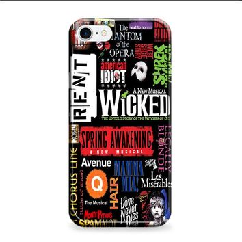 Broadway Musical Collage Poster iPhone 6 | iPhone 6S case