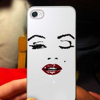 Marilyn Monroe face quote - OC - iPhone 5 case Black/White Case