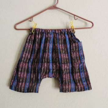 baggy Guatemala hand woven pants hippie toddler shorts