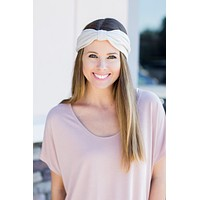 Twist-Front Headwrap - Taupe