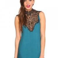 Tied Crochet Dress - Teal | NASTY GAL | Jeffrey Campbell $68