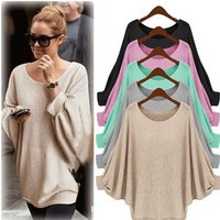 Bat sleeves loose fashion trend ladies [110333689881]