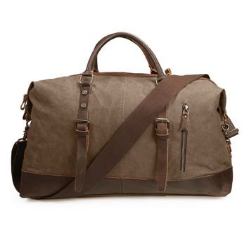 ECOSUSI Vintage Canvas Duffel Bag