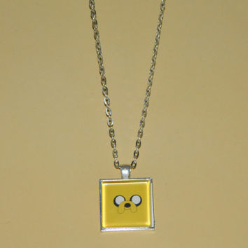 Adventure Time Finn and Jake Glass Pendant Necklace