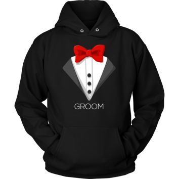Funny Men's Bachelor Party Tuxedo Groom Hoodie