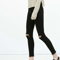 Summer Stretch Slim High Rise Jeans Skinny Pants