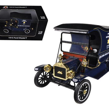 1915 Ford Model T Cargo Van NYPD 1-18 Diecast Model Car by Motorcity Classics