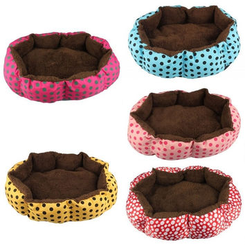 Soft Fleece Pet Dog Puppy Cat Warm Bed House Plush Cozy Nest Mat Pad = 1929630404