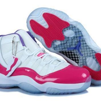Hot Nike Air Jordan 11 Retro Women Shoes White Pink