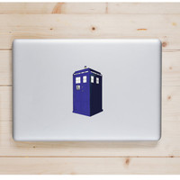 "Tardis Die Cut Sticker // Doctor Who BBC Nerd Pride // Gift Tag & Journal Small Size // 5"" // Perfect For Indoor, Outdoor, Laptop, Car"