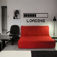 LOADING MARK SIGN GEEK CUTE DESIGN WALL VINYL STICKER  DECALS ART MURAL D2110