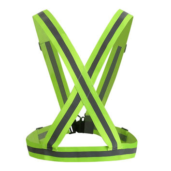 Adult Safety Security High Visibility Reflective Vest Gear Stripes Jacket for Hiking Cycling Riding Outdoor Sports at Night