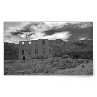 Deserted Building Photography Rectangular Sticker