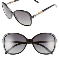 Women's Burberry 58mm Sunglasses. - Black/ Grey Polar