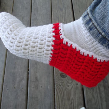 Sonic the Hedgehog Inspired Crochet Slippers Any Size