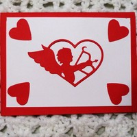 Cupid Red on White Love Card, 5.75