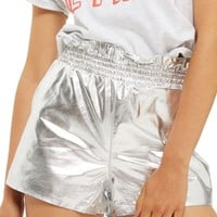 Topshop Faux Leather Paperbag Shorts | Nordstrom