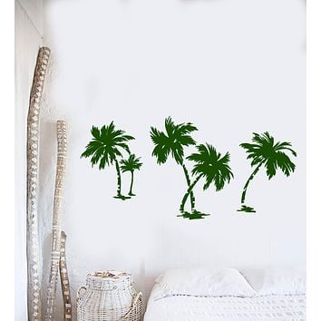 Vinyl Wall Decal Palms Nature Beach Style Nature Trees Stickers Unique Gift (1452ig)