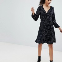 Only Emma Polka Dot Wrap Dress at asos.com