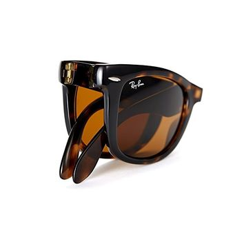 New Authentic Ray-Ban RB 4105 710 54mm Wayfarer Light Havana Crystal Brown