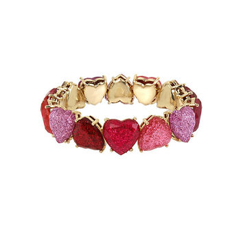 NOT YOUR BABE OMBRE HEART BRACELET: Betsey Johnson