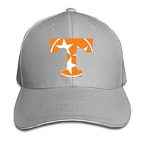 BOoottty Tennessee Volunteers Tri Star Flag Flex Baseball Cap Ash