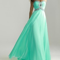 Charming Sweetheart Strapless Prom Gown by Night